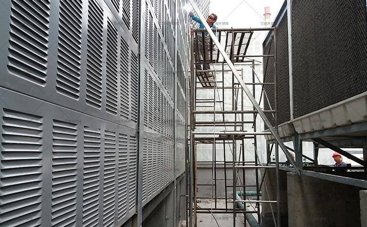 河北正定诚峰热电制冷站5+1冷却塔噪音治理声屏障